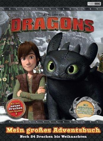 Gebundenes Buch »Dragons: Mein großes Adventsbuch«