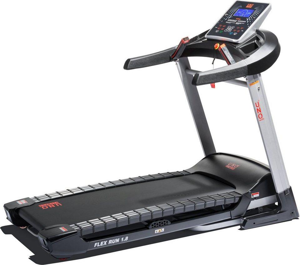 U.N.O. Fitness Laufband, »Flex Run 1.8« in silberfarben-schwarz