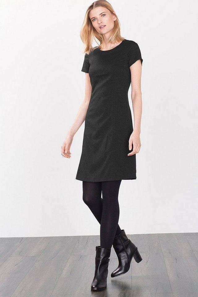ESPRIT CASUAL Stretch-Kleid mit tonigem Jacquardmuster in BLACK