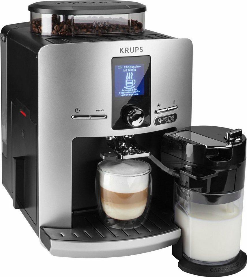 Krups Kaffeevollautomat EA82FE Latt'Espress Quattro Force, 50€ Gutschein geschenkt in silber