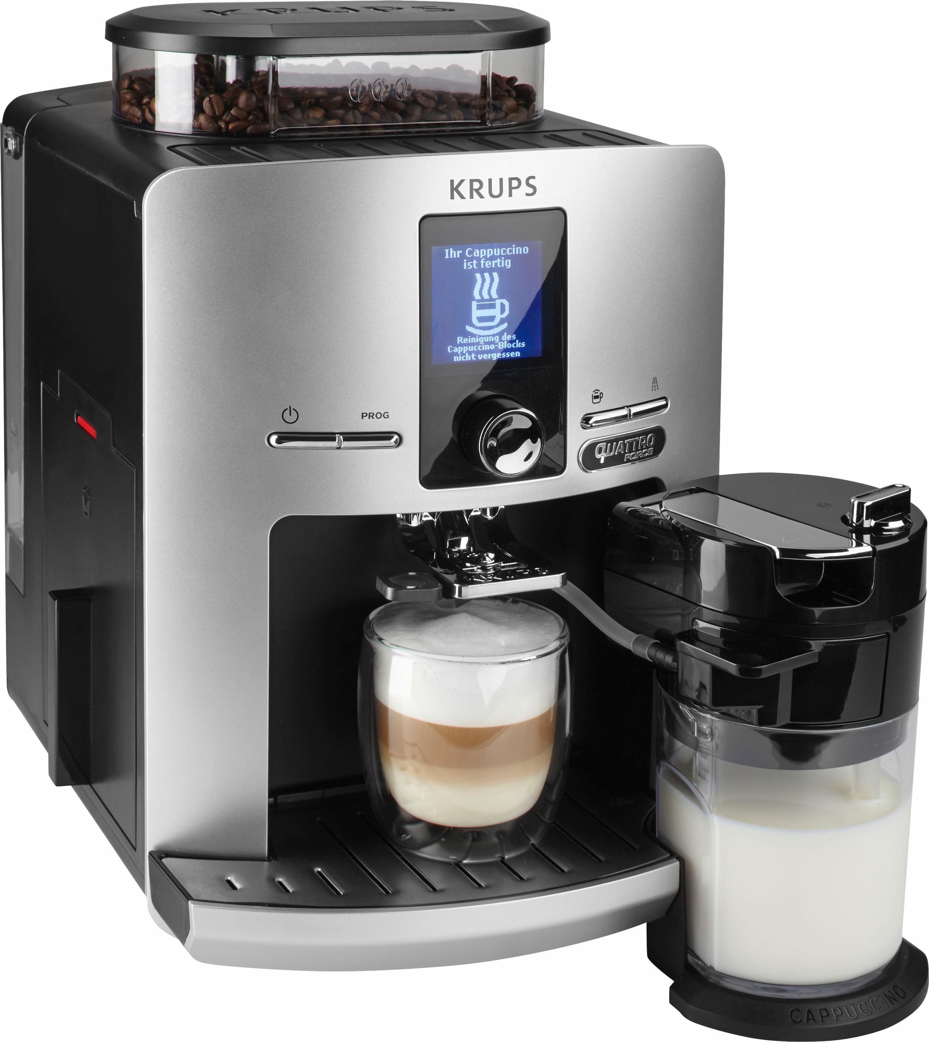 Krups Kaffeevollautomat EA82FE Latt'Espress Quattro Force