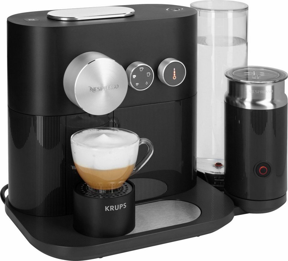 krups nespresso kapselmaschine xn6018 expert milk mit aeroccino3 und bluetooth 19 bar schwarz. Black Bedroom Furniture Sets. Home Design Ideas