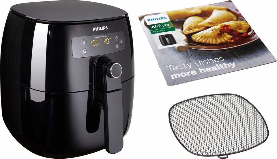 Philips Heißluft Fritteuse HD9641/90 Airfryer Avance TurboStar, schwarz in schwarz