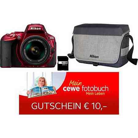 Nikon D5500 Kit Spiegelreflex Kamera, AF-P DX NIKKOR 18-55 mm 1:3,5-5,6 G VR Zoom, inkl. Tasche