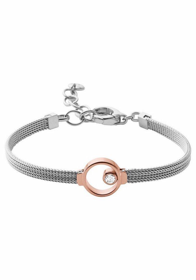 Skagen Armband »SKJ0951998« mit Glasstein in silberfarben-roségoldfarben