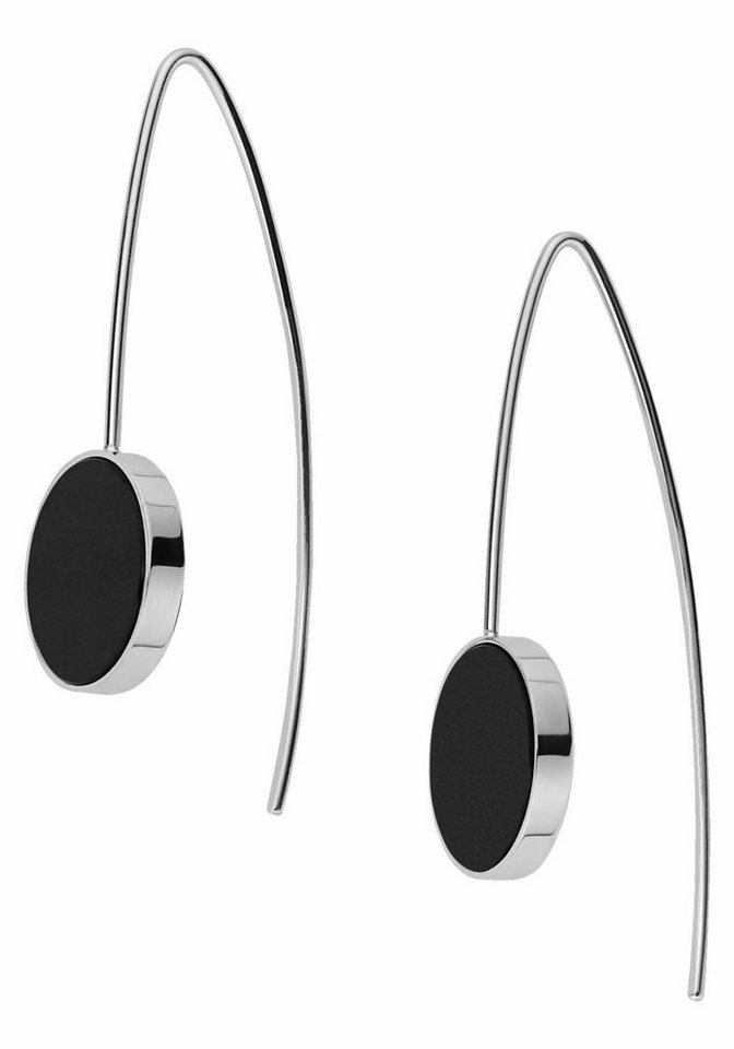 Skagen Paar Ohrhaken »SKJ0939040« mit Onyx in silberfarben-schwarz