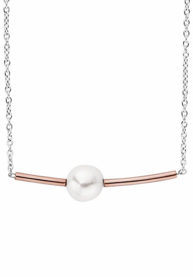 Skagen Kette mit Anhänger »SKJ0947998« mit synthetischer Perle in silberfarben-roségoldfarben-weiß
