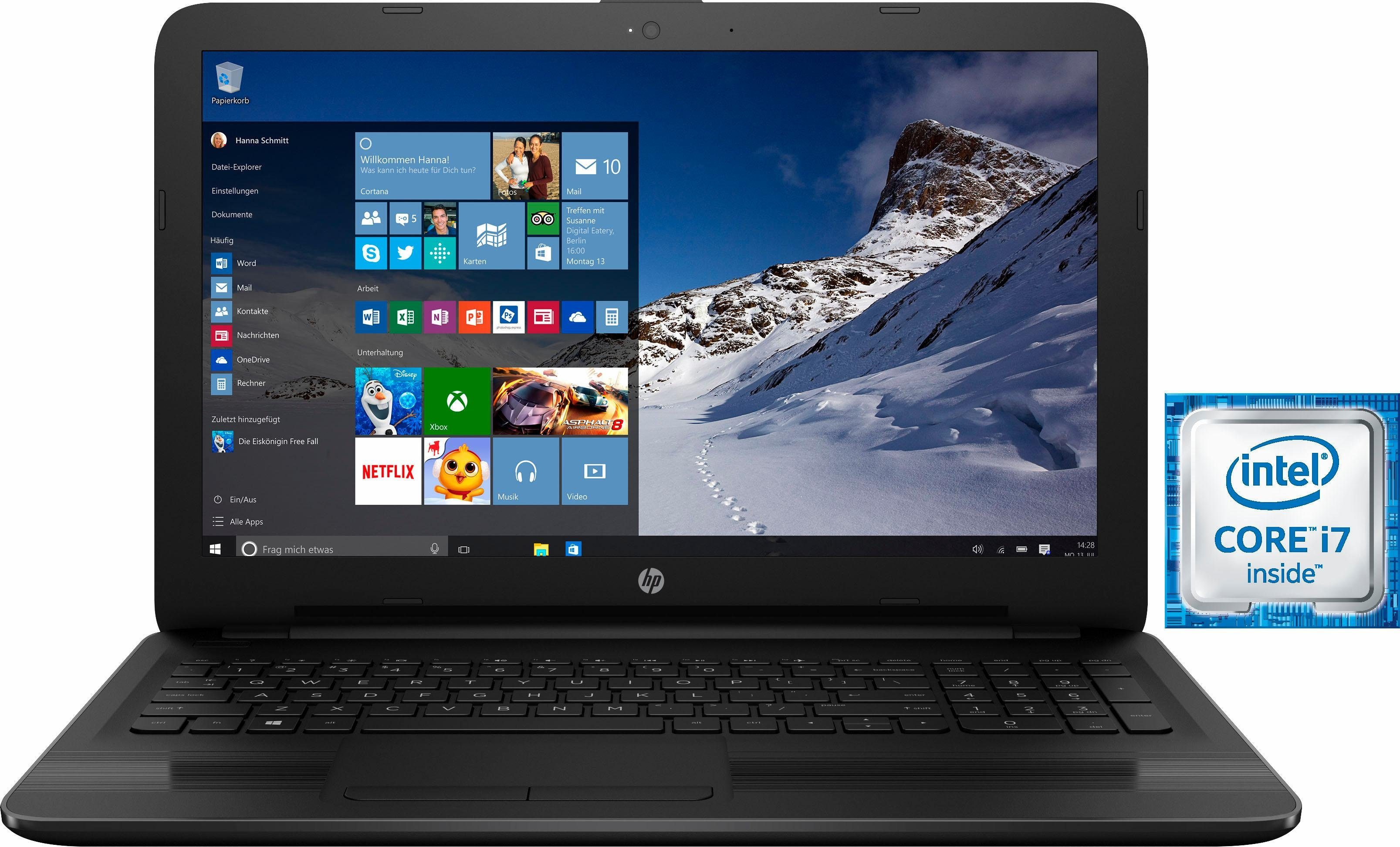 HP 17-x113ng Notebook, Intel® Core™ i7, 43,9 cm (17,3 Zoll), 256 GB Speicher, 8192 MB DDR4-SDRAM