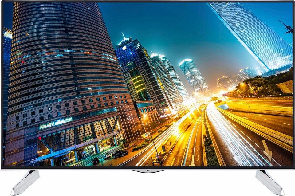 JVC LT-55VU72A, LED Fernseher, 140 cm (55 Zoll), 2160p (4K Ultra HD), Smart-TV in schwarz