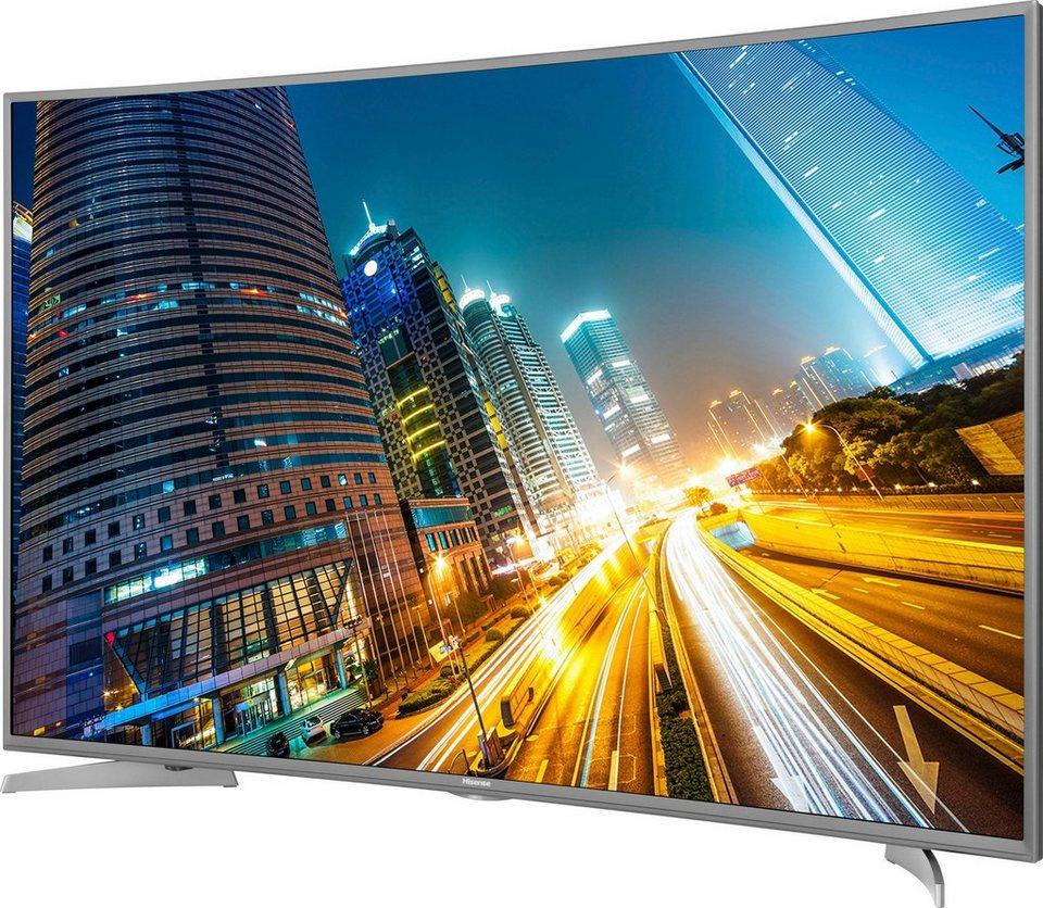 Hisense H55MEC5650, Curved-LED-Fernseher, 138 cm (55 Zoll), 2160p (4K Ultra HD), Smart-TV in silberfarben