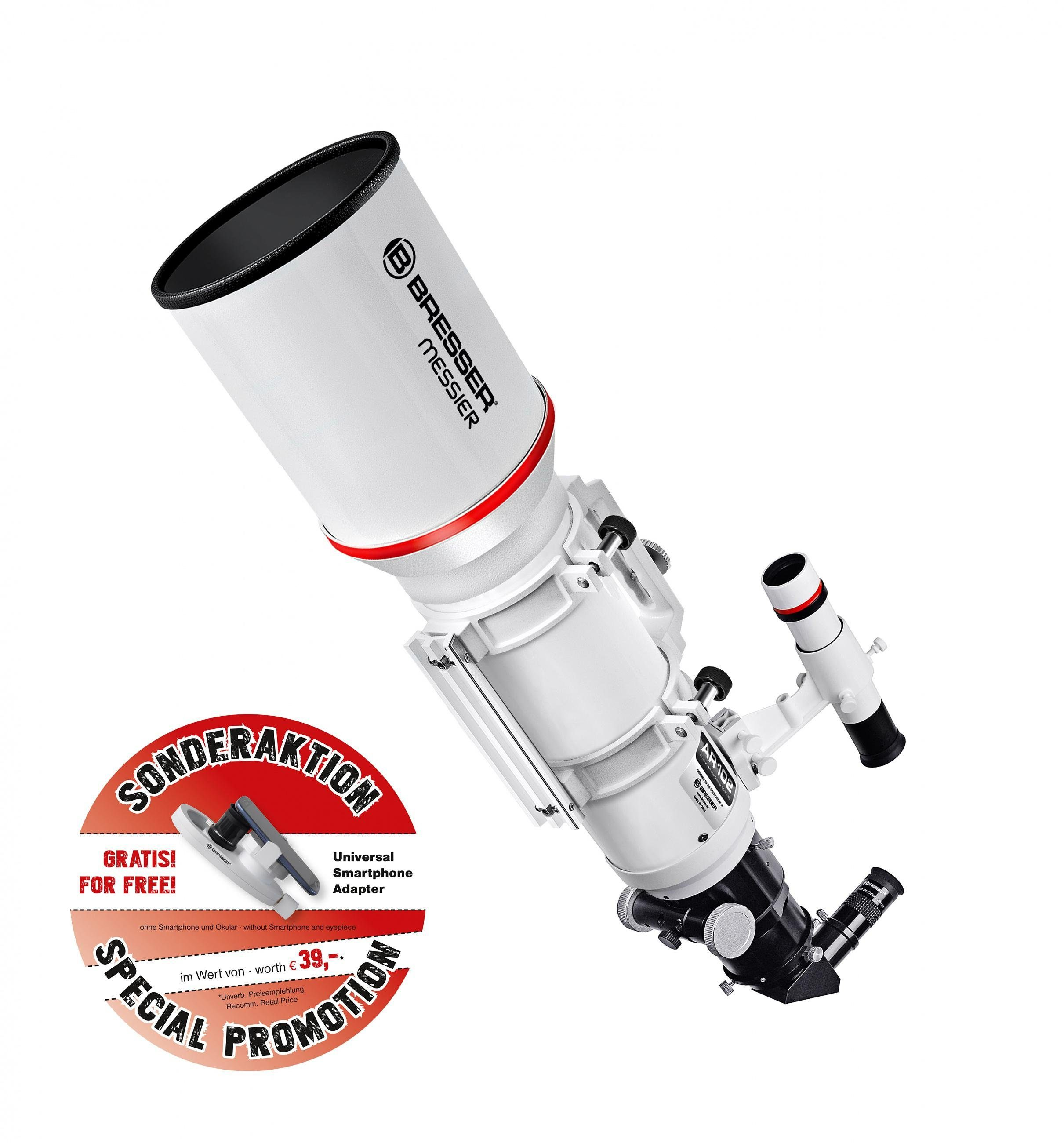 BRESSER Teleskop »Bresser Messier AR-102s/600 Optischer Tubus«