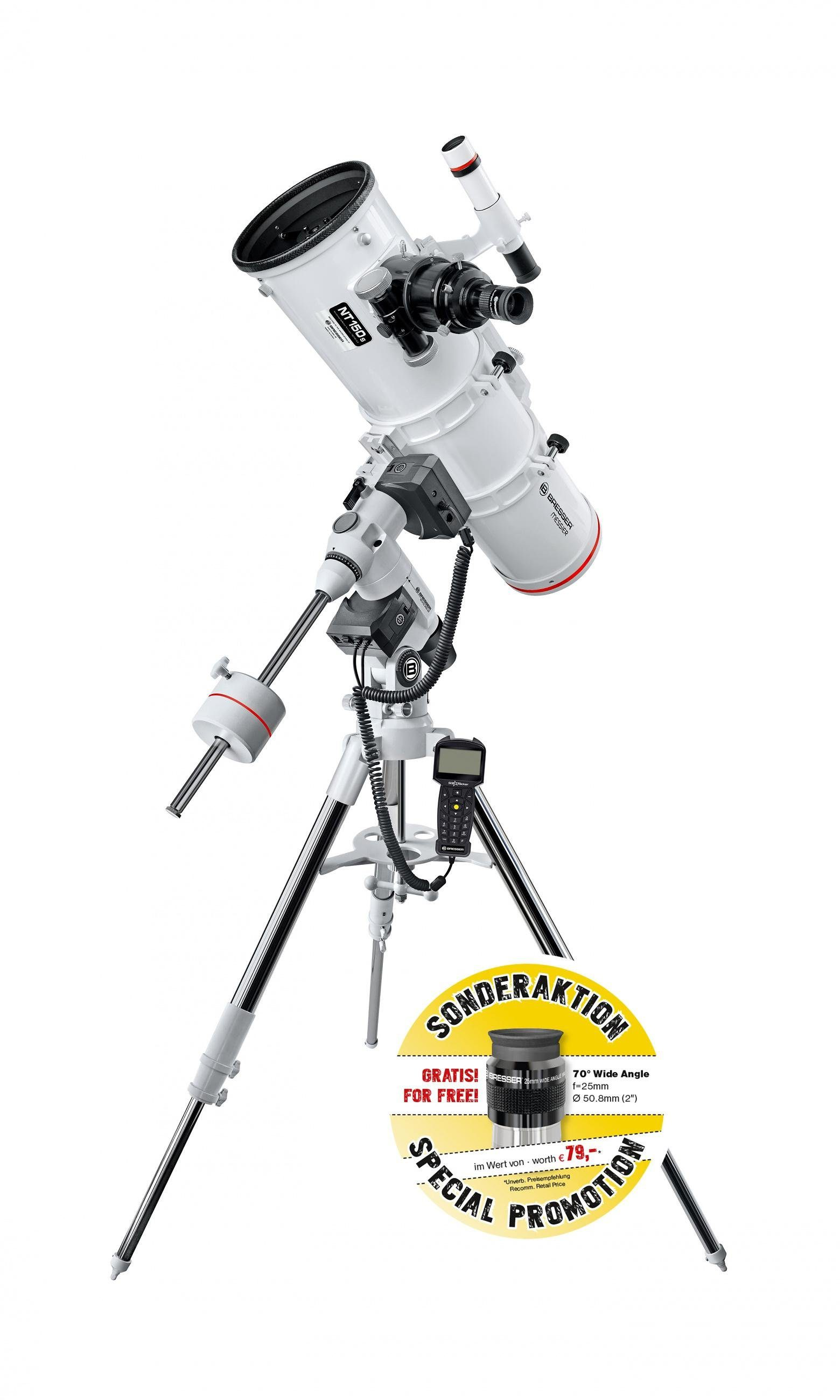 BRESSER Teleskop »Bresser Messier NT-150/750 EXOS-2 GoTo Teleskop«
