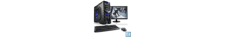 "CSL Gaming PC Set | Core i7-6700 | GTX 1050 Ti | 16 GB RAM | 24"" TFT »Speed T7794 Windows 10 Home«"