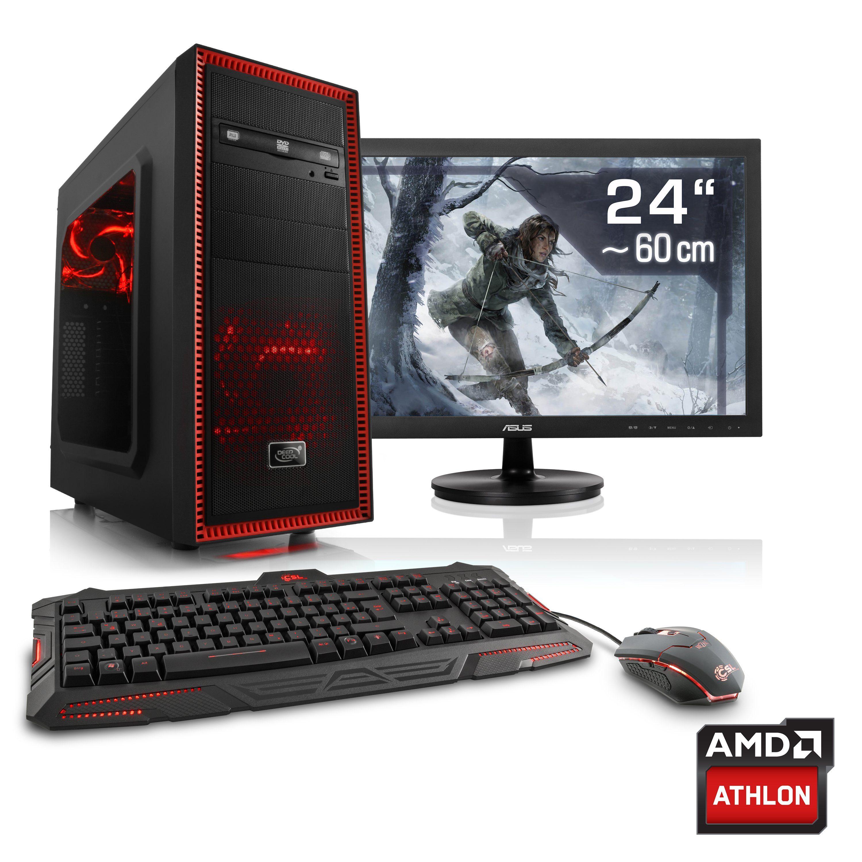 "CSL Gaming PC Set | Athlon X4 845 | GTX 1050 Ti | 8GB RAM | 24"" TFT »Sprint T4835 Windows 10 Home«"