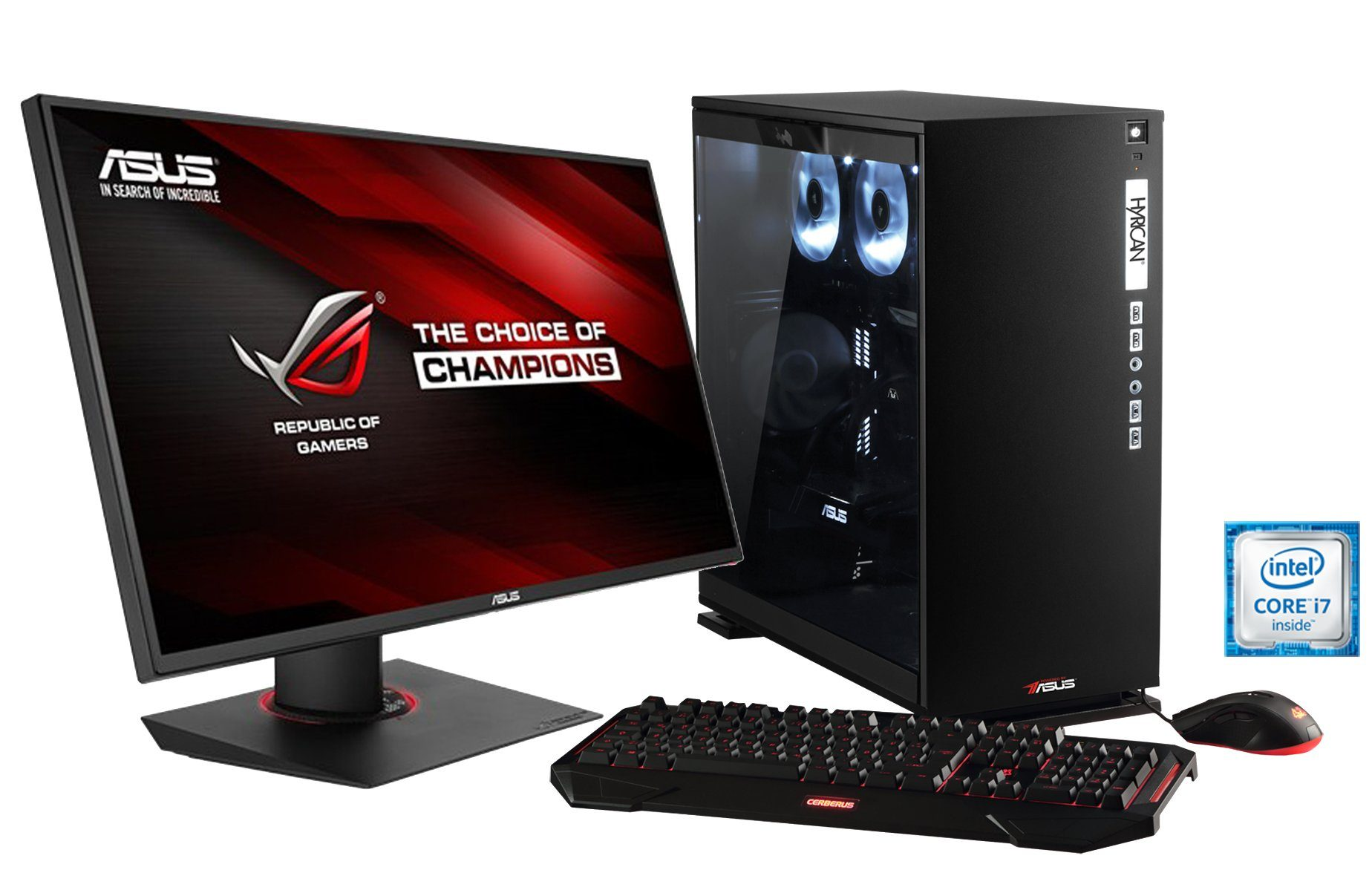 Hyrican Gaming PC Set Intel® i7-6850K GeForce® GTX1080 + Monitor »Elegance 1109 powered by ASUS «