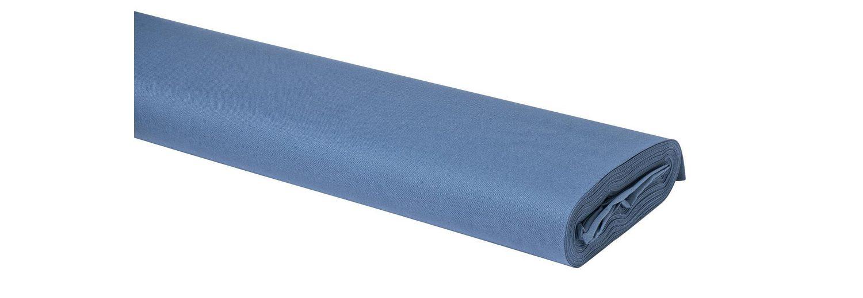 Meterware Uni-Baumwollstoff, 147cm, Blaugrau