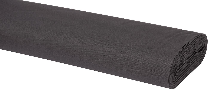 Meterware Uni-Baumwollstoff, 147cm, Anthrazit