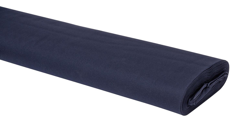 Meterware Uni-Baumwollstoff, 147cm, Kobaltblau