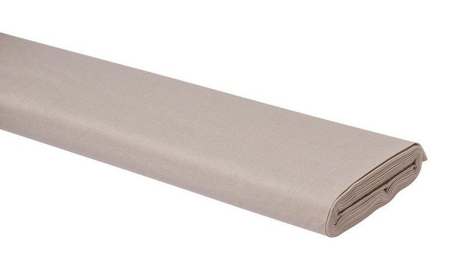 Meterware Uni-Baumwollstoff, 147cm, Graubeige