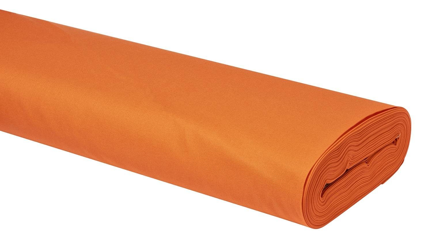 Meterware Uni-Baumwollstoff, 147cm, Orange