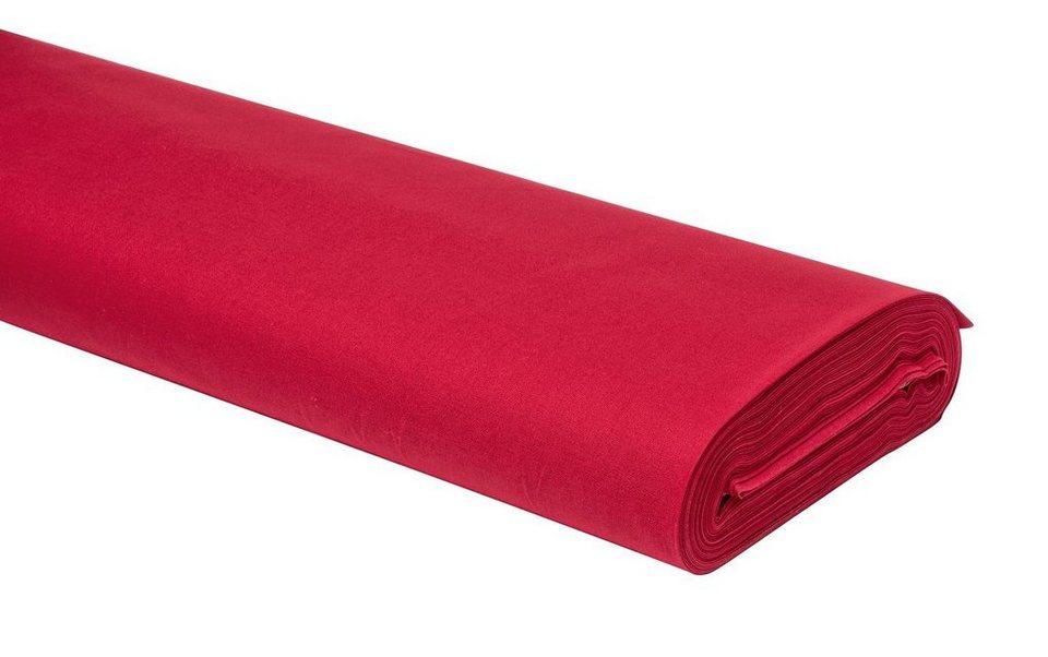 Meterware Uni-Baumwollstoff, 147cm, Rot