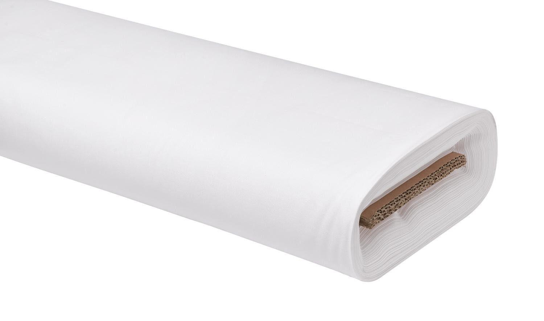 """Baumwoll-Stoff Uni """"Weiß"""" 147 cm breit (Meterware)"""
