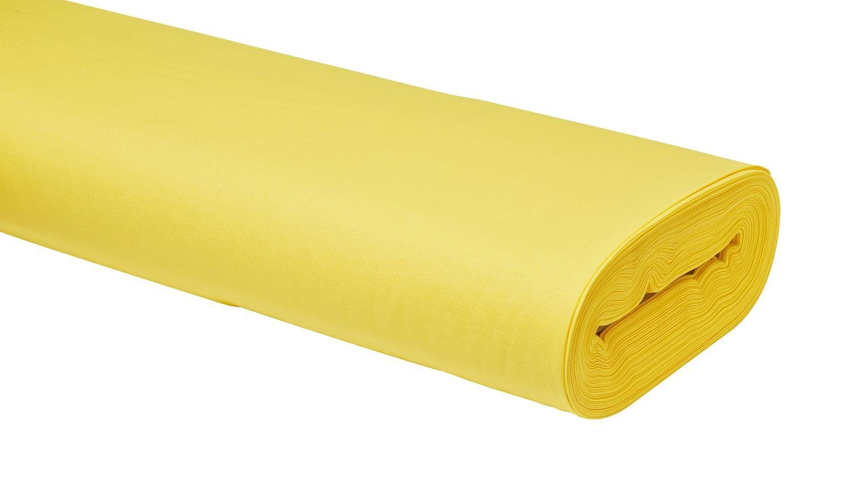 Meterware Uni-Baumwollstoff, 147cm, Pastellgelb