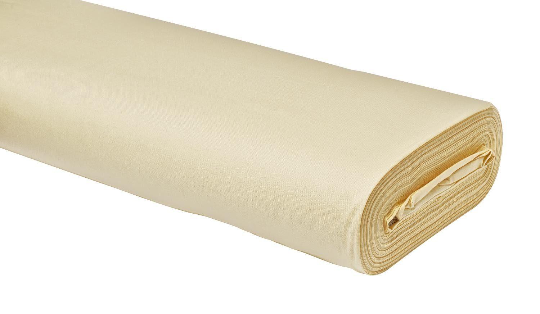 """Baumwoll-Stoff Uni """"Vanille"""" 147 cm breit (Meterware)"""