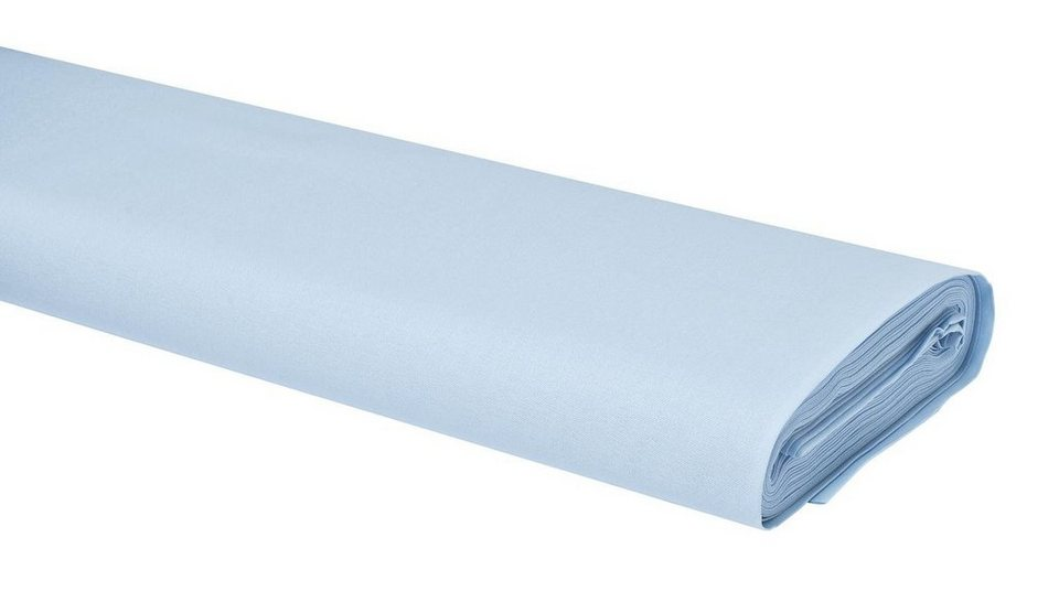 Meterware Uni-Baumwollstoff, 147cm, Pastellblau