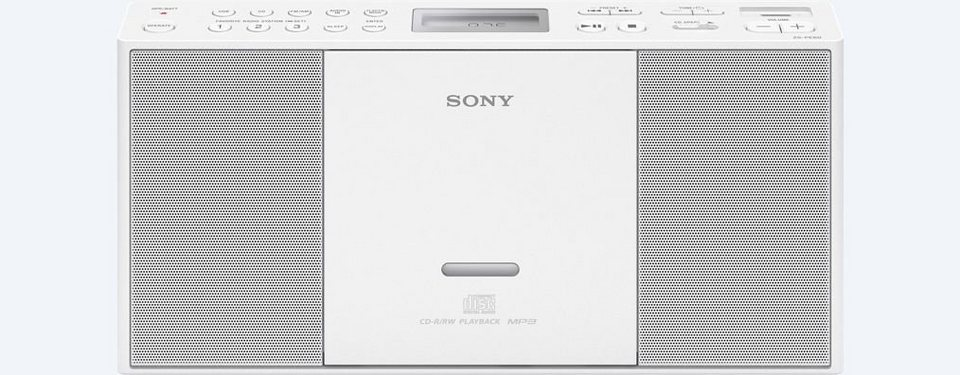 Sony USB / Radio / MP3 / CD-Player »ZS-PE60« in weiss