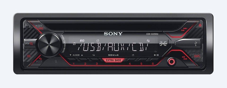 Sony 1-DIN CD-Receiver »CDX-G1200U« in schwarz