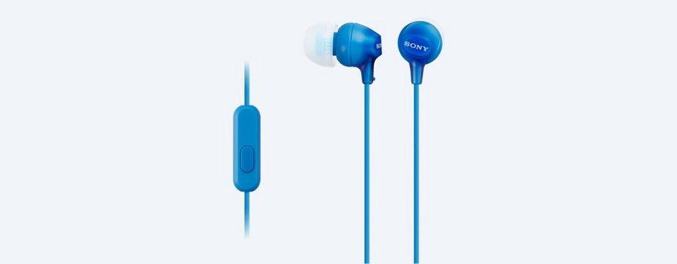 Sony InEar Kopfhörer / Headset »MDR-EX15LP« in blau