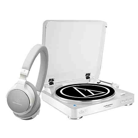 Audio-Technica Set: Bluetooth-Plattenspieler und High-Res Kopfhörer »AT-LP60BT und AT-SR5BT«