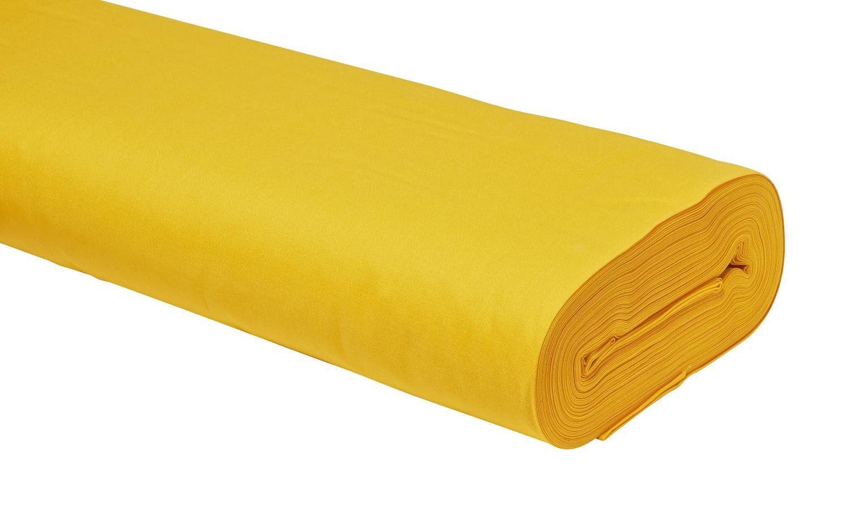 "Baumwoll-Stoff Uni ""Gelb"" 147 cm breit (Meterware)"