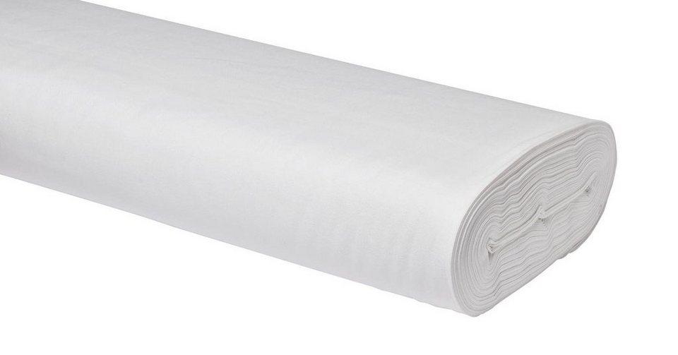 Meterware Uni-Baumwollstoff, 147cm, Batik-Weiß
