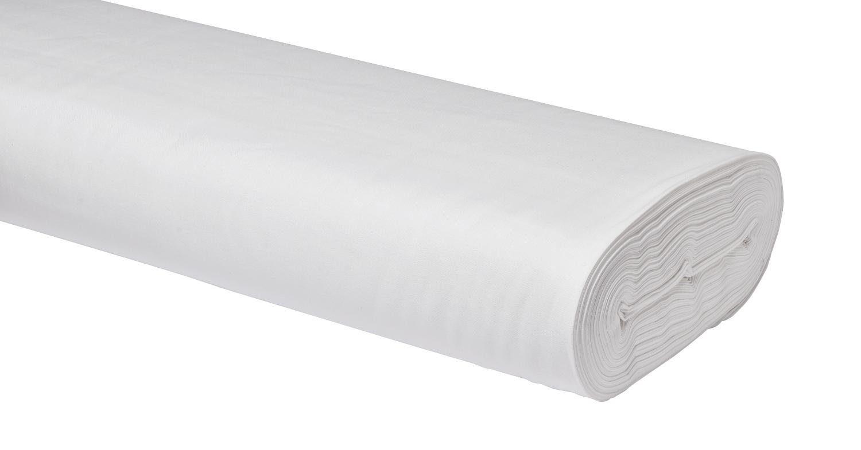 "Baumwoll-Stoff Uni ""Batik-Weiß"" 147 cm breit (Meterware)"