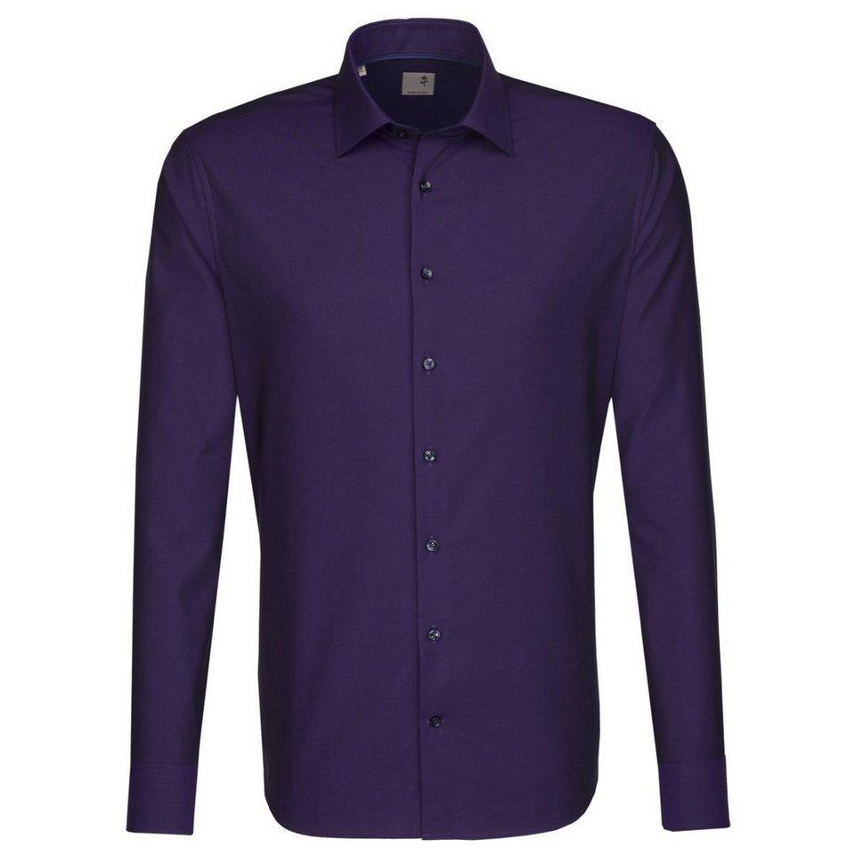 SEIDENSTICKER Businesshemd »Tailored« in lila