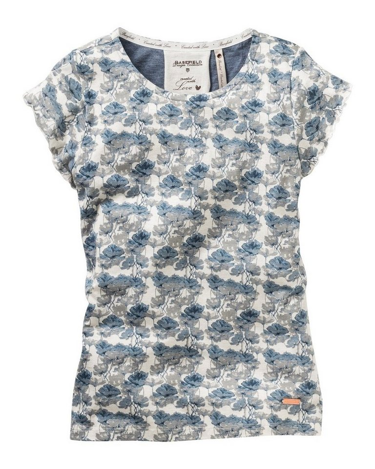 BASEFIELD Shirt in Ecru/Blau