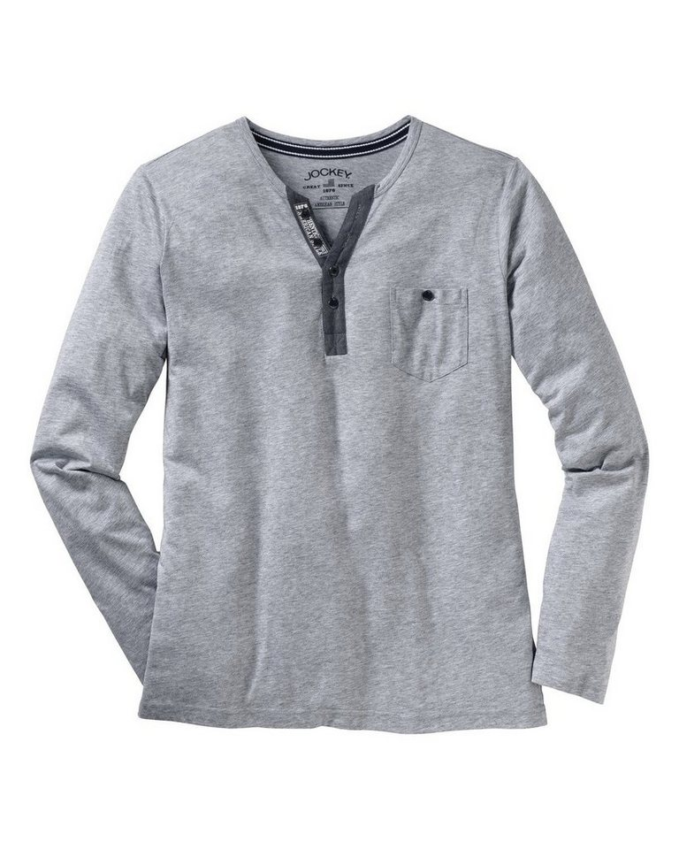 Jockey Langarm-Shirt in Grau-Meliert