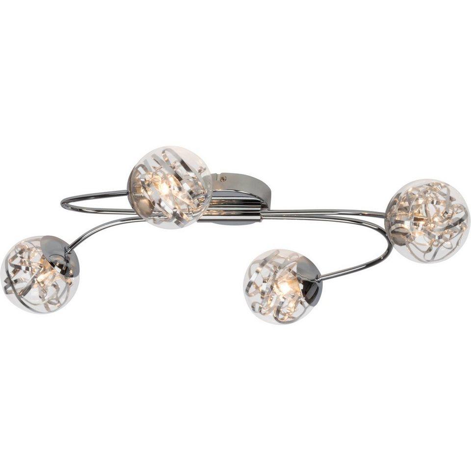 Brilliant Leuchten Cinta LED Deckenleuchte, 4-flammig chrom in chrom