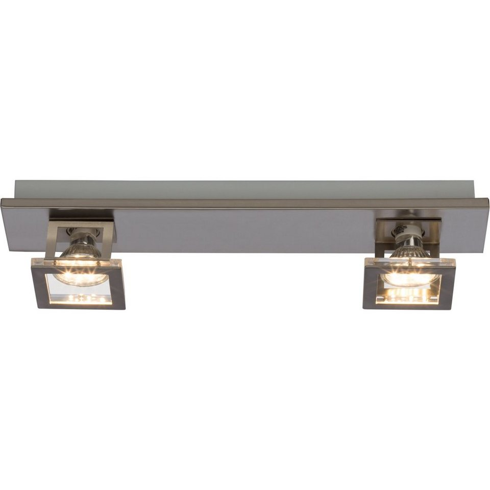 Brilliant Leuchten Window LED Spotrohr, 2-flammig nickel in nickel