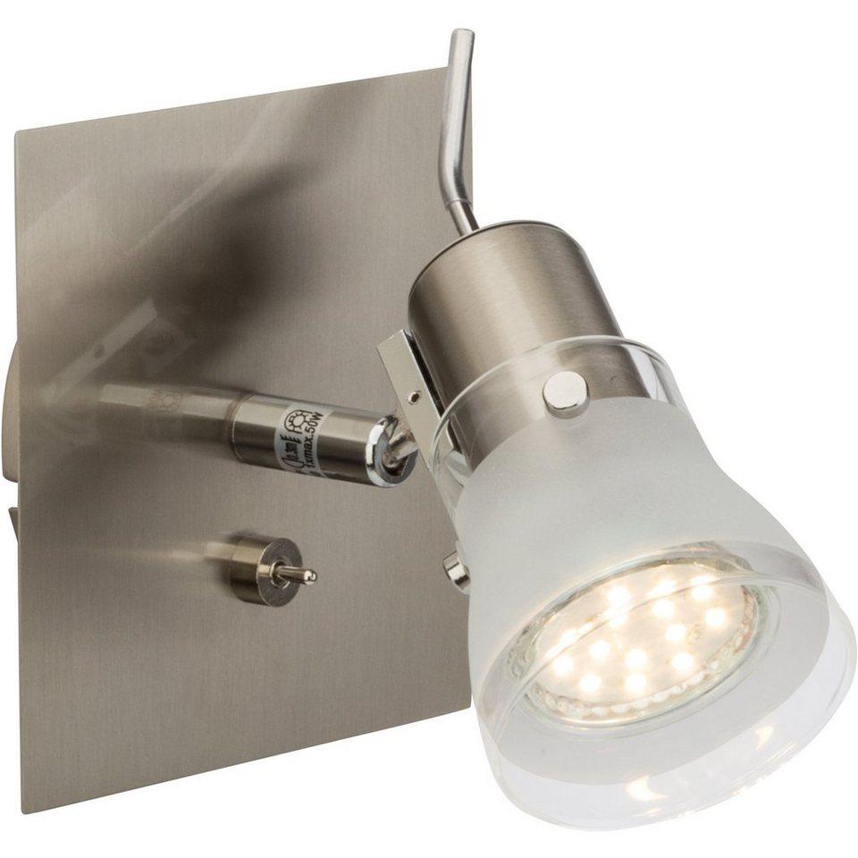 Brilliant Leuchten Lipari LED Wandspot mit Schalter eisen in eisen