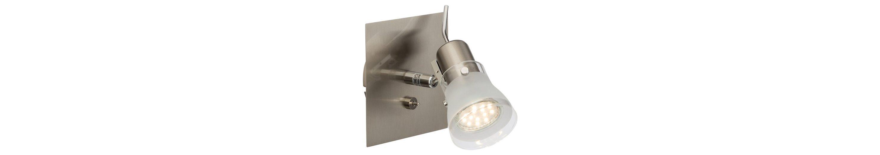 Brilliant Leuchten Lipari LED Wandspot mit Schalter eisen