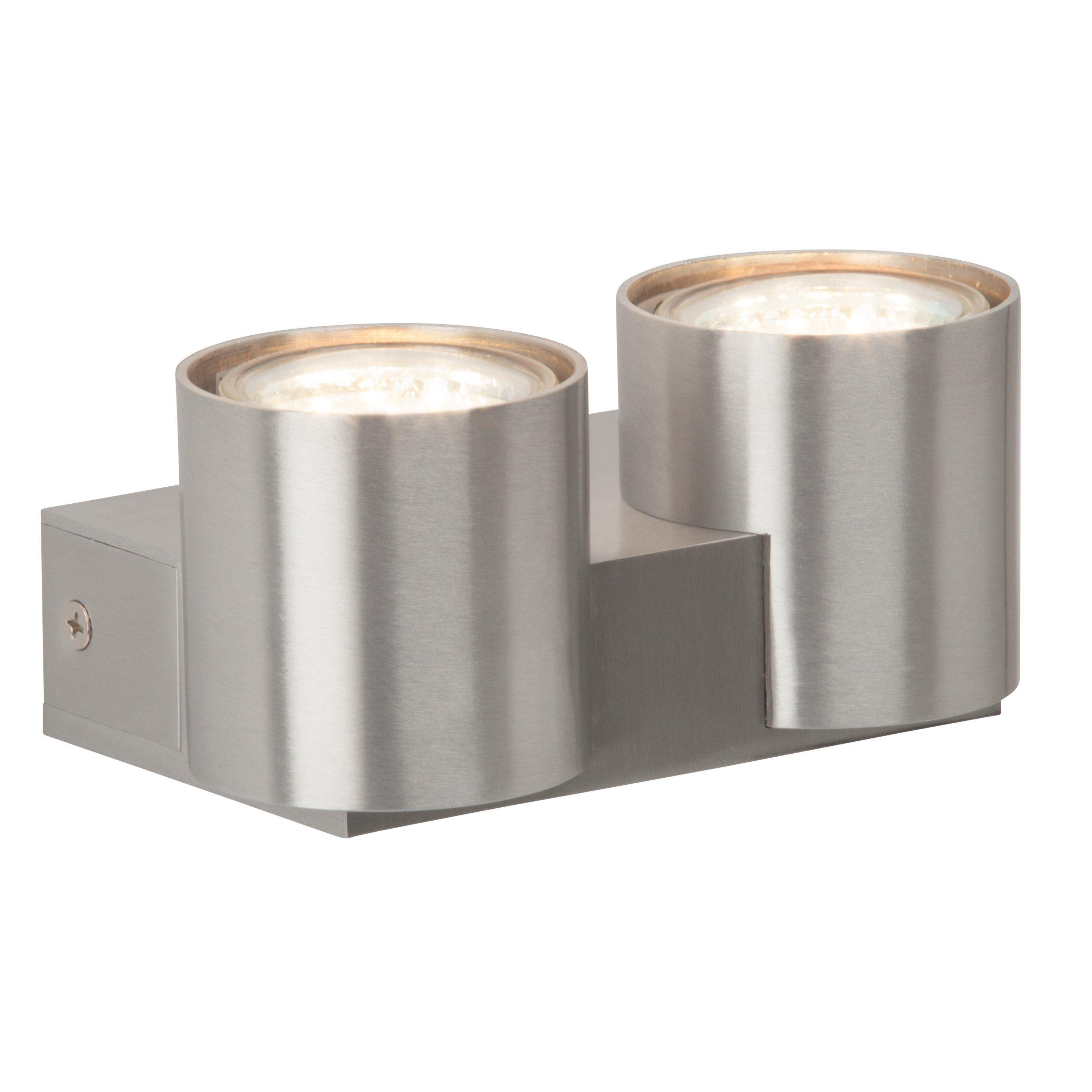 Brilliant Leuchten Izon LED Wandleuchte, 2-flammig alu