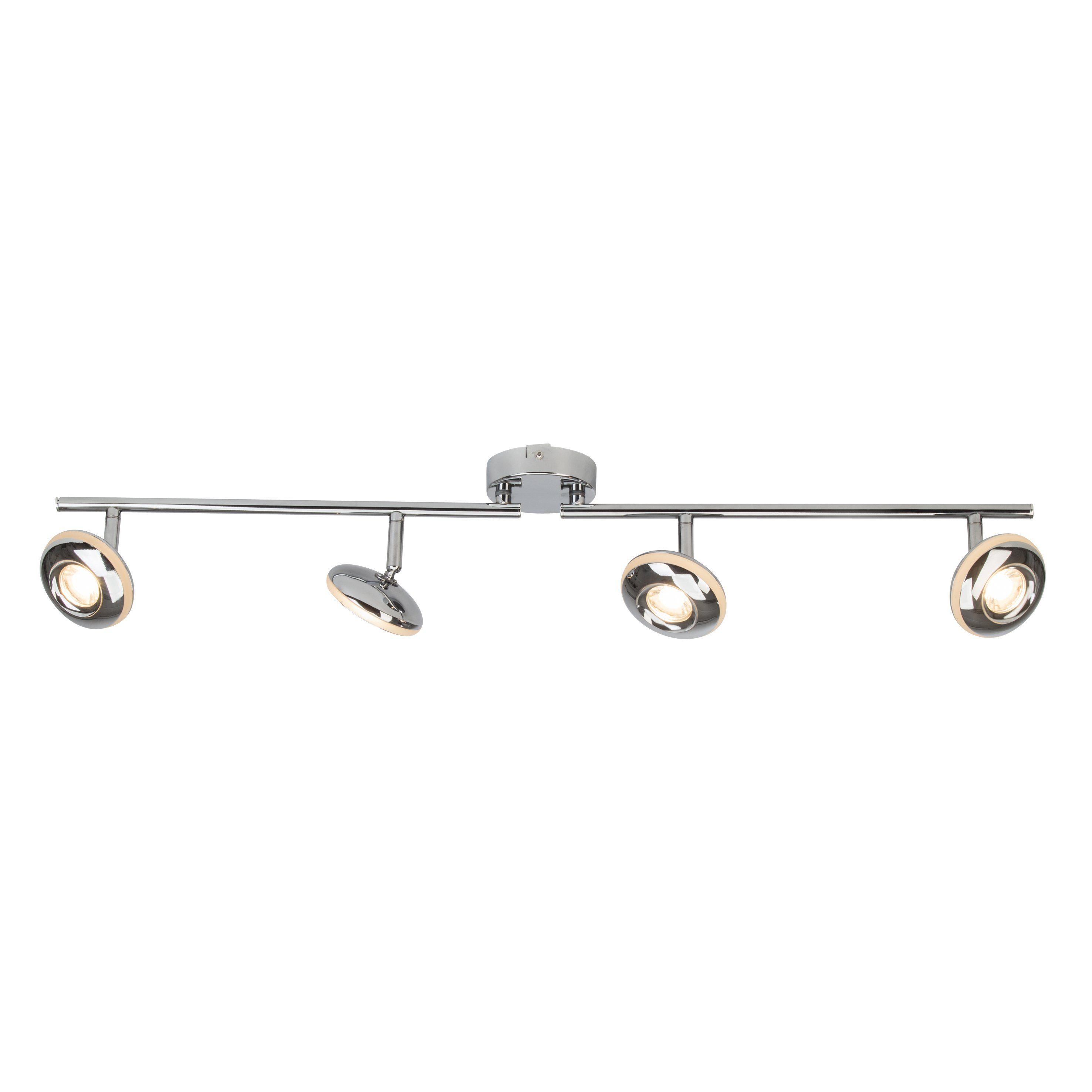 Brilliant Leuchten More LED Spotrohr, 4-flammig chrom