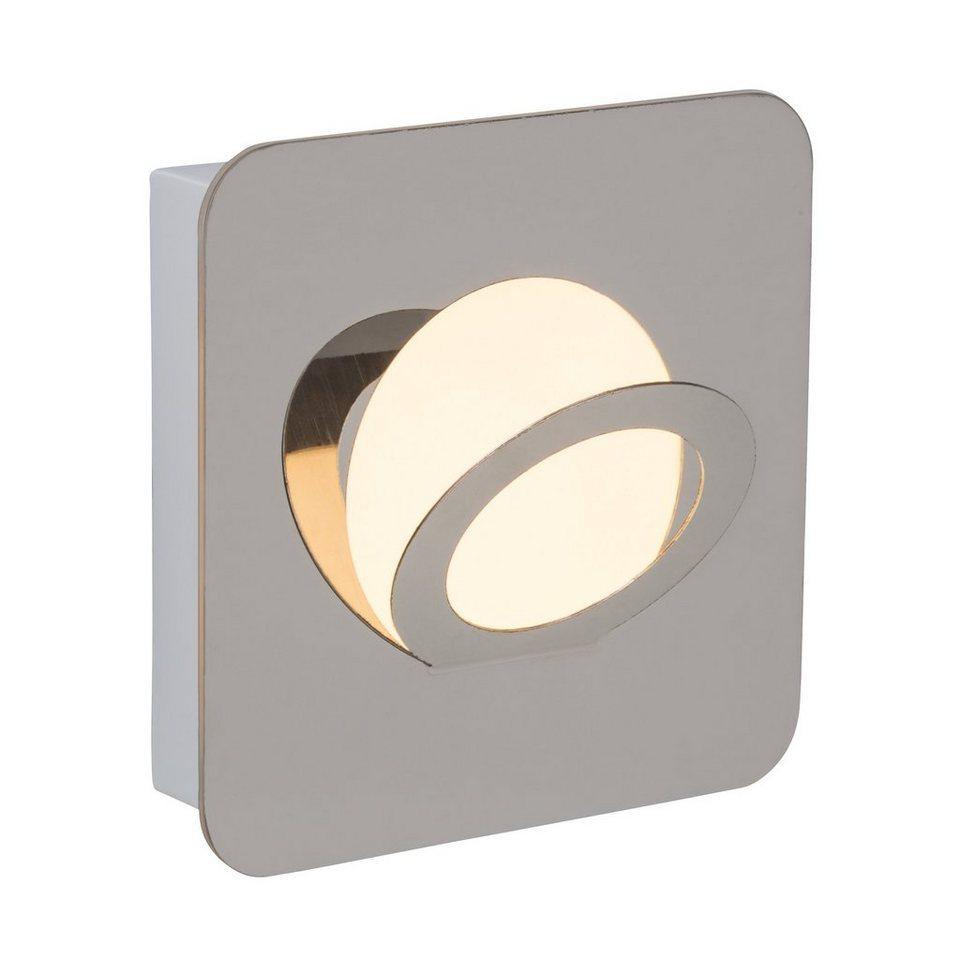 Brilliant Leuchten Doors Round LED Wand- und Deckenleuchte chrom in chrom