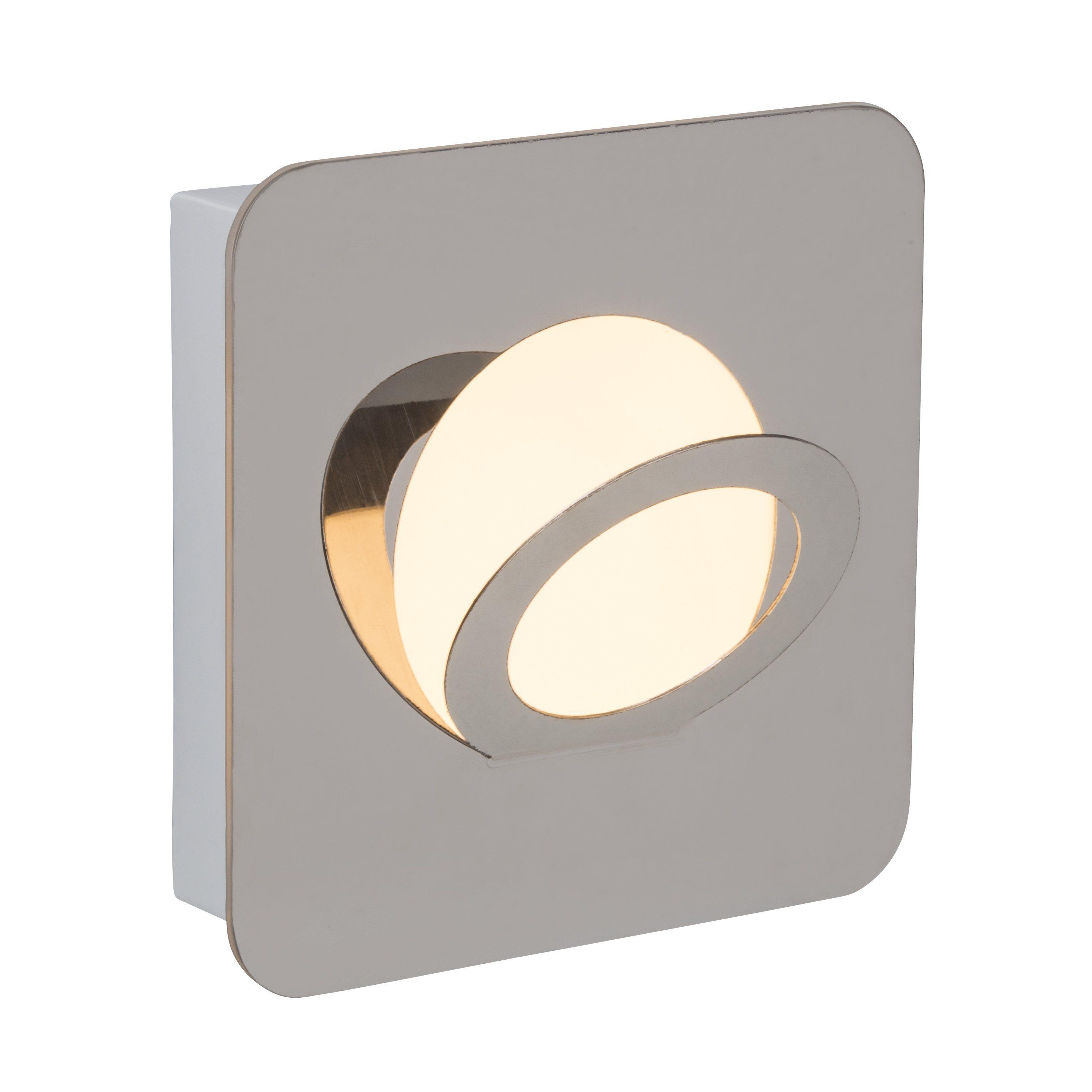 Brilliant Leuchten Doors Round LED Wand- und Deckenleuchte chrom