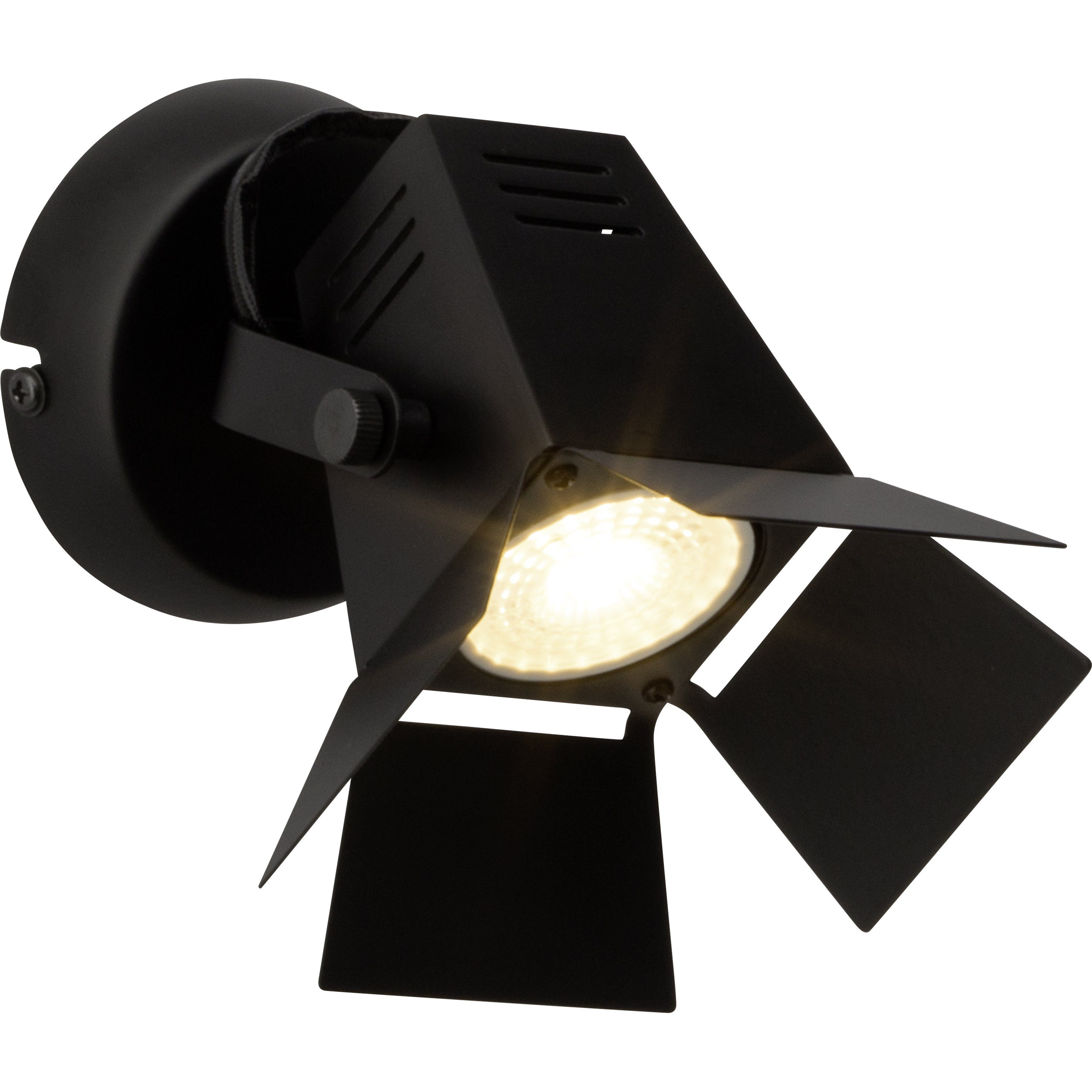 Brilliant Leuchten Movie LED Wandspot schwarz matt