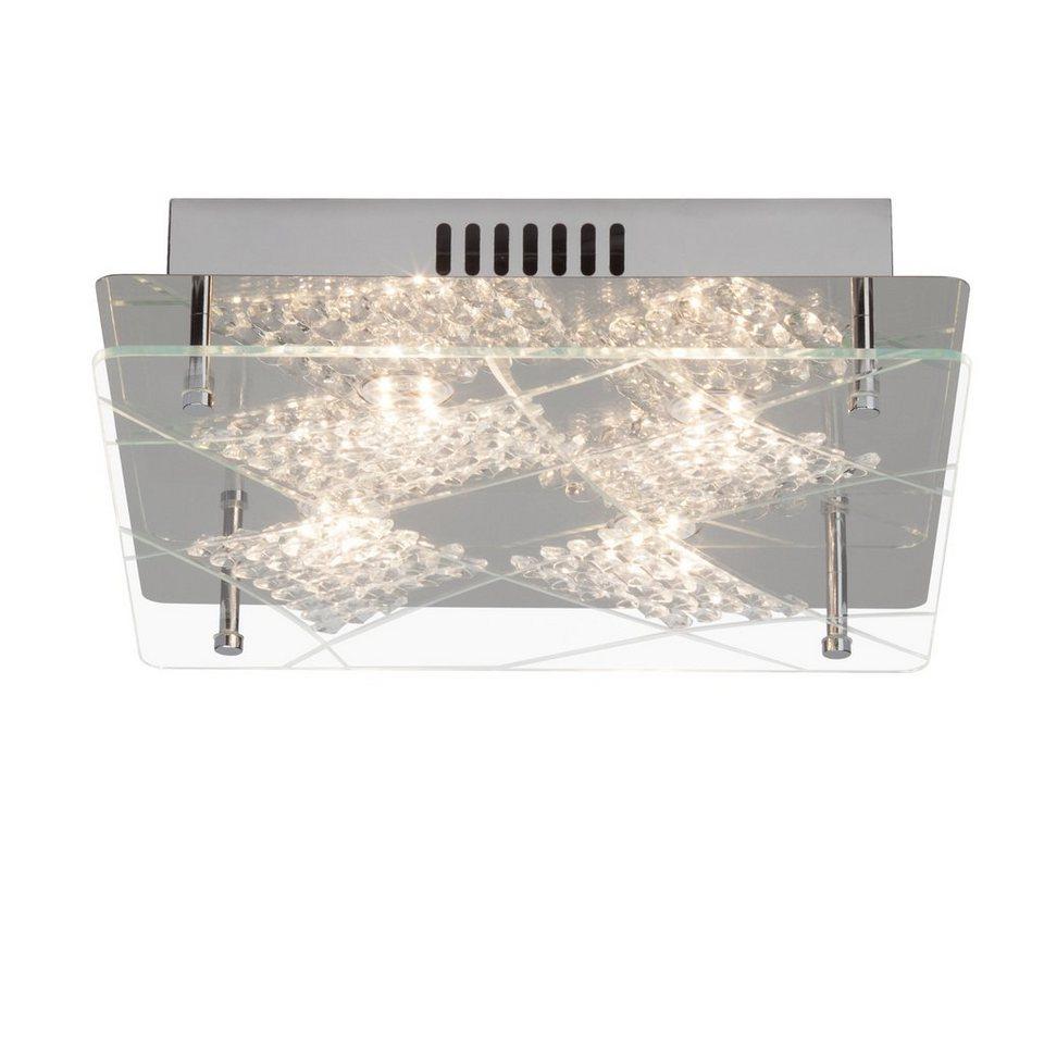 Brilliant Leuchten Fine LED Deckenleuchte, 4-flammig chrom in chrom