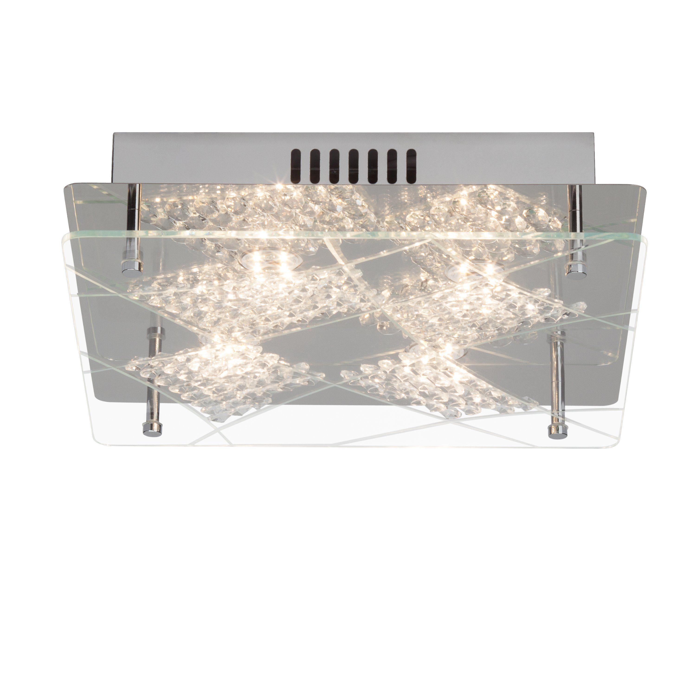 Brilliant Leuchten Fine LED Deckenleuchte, 4-flammig chrom